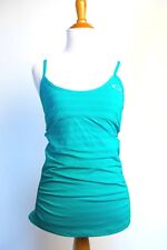 Woman's Oakley Athletic Tank Top Built In Bra Running Yoga Small Aqua