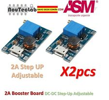 2pcs 2A Booster Board DC-DC Step-up 2/24V to 5/9/12/28V Micro USB Replace XL6009