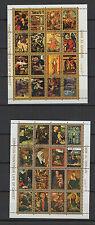 Tableaux du Christ  Umm Al Qiwain 2 feuilles 16 petits timbres oblitérés/ T1455