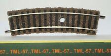 Voie FLEISCHMANN PROFI Rail Courbe R 356.5 mm - Percé pour Dételeur ou Aimant