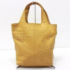 AUTHENTIC BOTTEGA VENETA Intrecciato Leather Hand Bag Mustard Yellow 143393