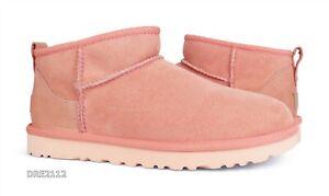 UGG Classic Ultra Mini Beverly Pink Fur Boots Womens Size 9 *NIB*