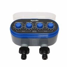 Automatic Watering 2 Outlet 4 Dials Water Timer Garden Irrigation Controller New