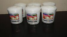 Yankee Candle Set of 6 White Chocolate Apple Votives New Summer Scent 2015