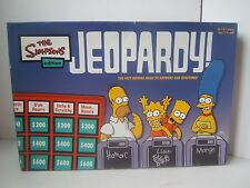 The Simpsons Jeopardy Board Game Near Complete - Missing 1 Card/Tape