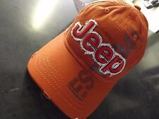 Orange Jeep EST.1941 baseball cap JK JEEP Wrangler Grand Cherokee