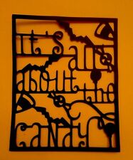 Halloween Frame Die Cut It's All About The Candy Homemade Card stock