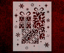"""Christmas Present Holiday Snow Stars 8.5"""" x 11"""" Stencil FAST FREE SHIPPING (627)"""