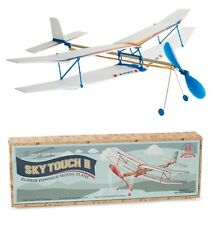 Sky Touch II Rubber Band Powered Glider Plane Biplane Kit Aircraft Glider Model