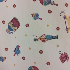 1996 Daisy Kingdom Christmas Tossed Toys Fabric 1+ Yards Soldier House Spinner