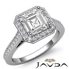 Gia I Si1 18k White Gold 2.2ct Princess Cut Diamond Engagement Halo Pre-Set Ring
