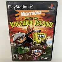 Nicktoons: Battle for Volcano Island (Sony PlayStation 2) PS2 Complete CIB Game!