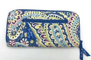 NEW Vera Bradley Travel Zip Wallet Organizer CAPRI BLUE Purse Clutch NWOT