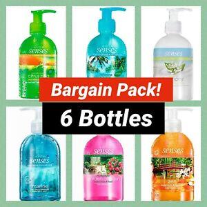 Avon Senses Hand Wash Bargain Pack - x 6 Pump 250ml Bottles  - Mixed Fragrances