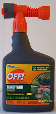 4 32-ounce bottles OFF! Mosquito Repellent - Backyard Bug Control Hose-End Spray