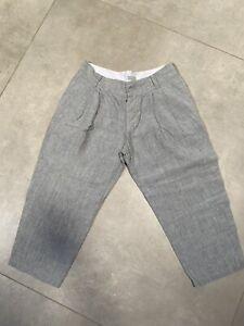 Margaret Howell grey linen crop trouser : Size 14?