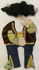Gr-r-roovy Hippie Dog Pet Costume with wig Size Small