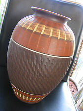 XL grosse 50s Vintage Wekara 10 / 35 Sgraffito Keramik Boden Vase Ritzdekor WGP