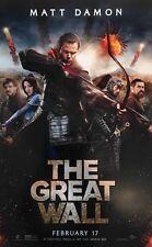 THE GREAT WALL NEW MOVIE POSTER 11X17 FILM ACTION MATT DAMON WILLEM DAFOE CHINA