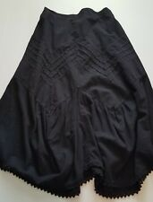 NWT G Designs Natural Fashions Women's Size Large Black 100% Cotton Skirt $88