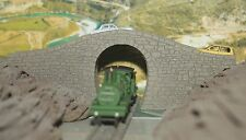 TT GAUGE / SCALE STONE BRIDGE OVERPASS  SINGLE TRACK HUMP STYLE  LASER ENGRAVED