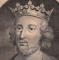 Portrait XVIIIe Henri III Roi d'Angleterre Seigneur d'Irlande Duc D'Aquitaine