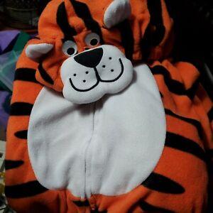 Carter's 24 Months Halloween Fleece Tiger Hooded Costume Zip Jacket Tail Pants
