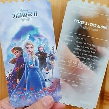 Frozen 2 Movie Korea Movie ticket Megabox Sing Along version