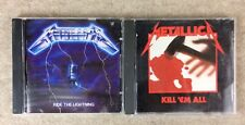 Vtg METALLICA Ride the Lightning & Kill 'Em All CD 1983 1984 Elektra/Asylum