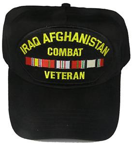 IRAQ AFGHANISTAN COMBAT VETERAN HAT OIF OEF IRAQI ENDURING FREEDOM RIBBONS