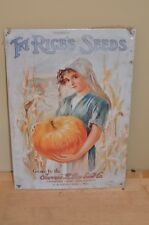 Try Rice's Seeds Jerome Rice Seed Co Cambridge NJ  Vintage Retro Tin Metal Sign