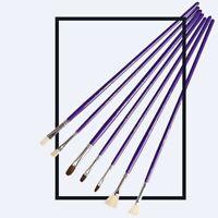 12pcs/set Painting Brush Oil Paint Gouache Acrylic Water Color Nylon Bristle Kit