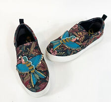 Sam Edelman Womens Shoes 9.5M Leila Embroidered Bird Tapestry Slip On Sneakers