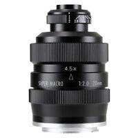 Zhongyi Mitakon 20mm f/2 4.5X Super Macro Lens for Canon EOS M M1 M2 M3 M5 M6