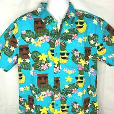 Bobs Burgers Tiki Sunglasses Pineapple Hawaiian Shirt Large Fit Slim XL Mens New