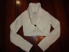 Girls Old Navy Crop Shrug Sweater Cream Size M EUC!