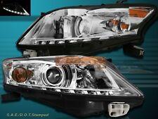 10-12 LEXUS RX350 PROJECTOR HEADLIGHTS CHROME HOUSING AMBER REFLECTOR NEW