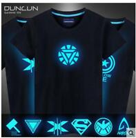 Iron Man cotton glow in the dark shield X-Men Avengers Captain America T-shirt