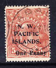 NEW GUINEA GV 1918 SG100 1d on 5d opt N.W PACIFIC IS type b superb used cat £100