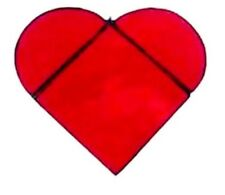 Red Valentine's Heart Stained Glass Sun Catcher
