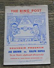 VTG Ring Post Program May 7 1958 1st World's Championship Fight In Texas N