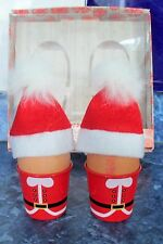 FATHER CHRISTMAS SANTA HATS NOVELTY KITCHEN BREAKFAST BOILED EGG CUP SET x 2