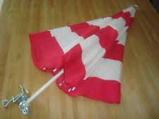 """IKEA 55"""" Ramso Umbrella Parasol Red White Outdoor Chair, Garden Table Mount"""