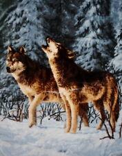 Tagesdecke Kuscheldecke Wohndecke Decke Plaid Motiv Wolf /Winterwolf 160x200cm