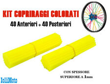 Copri raggi colorati ruota moto cross enduro motard BMX SPOKE COVERS