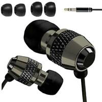 Earphones Headphone In Ear Metal Noise Isolating Earphone For Mp3 4 5 Black