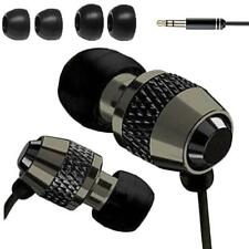 IN EAR EARPHONES HEADPHONE METAL NOISE ISOLATING EARPHONE FOR MP3 4 5 BLACK