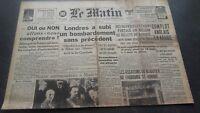 JOURNAL LE MATIN DIMANCHE 29 DECEMBRE 1940 N°20.730 ABE