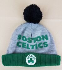 Boston Celtics NBA Cuffed Knit Hat Boston CELTICS By Adidas Pom Size Boys 4-7