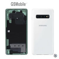 Tapa Trasera Back Cover Ceramic White Samsung Galaxy S10 Plus G975F ORIGINAL